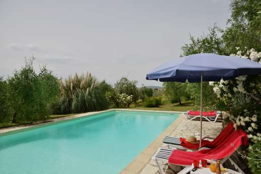 The Estate of Casa Vecchia - Pool terrace enjoys beautiful views.