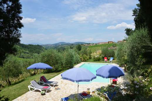The Estate of Casa Vecchia - The 6 x 12m/20 x 39 feet swimming pool, is set in a grove about 40m/50 yards from the house.