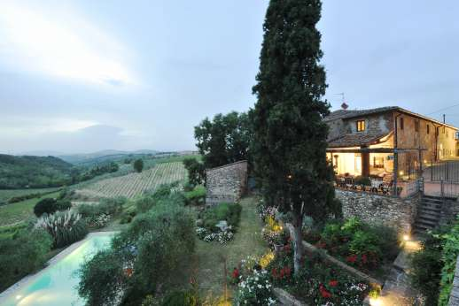The Estate of Casa Vecchia - Il Giogo, delightful 17C stone farmhouse in Western Chianti, with exceptional views.