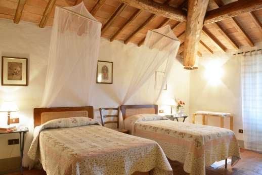 The Estate of Casa Vecchia - Second twin bedroom on the first floor.