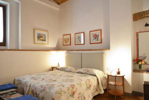 The Estate of Casa Vecchia - One of the twin bedrooms on the ground floor with en suite bathroom with shower.