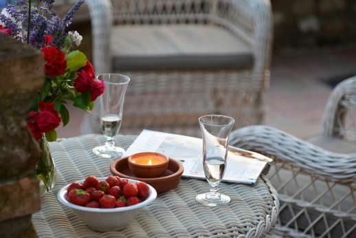 The Estate of Casa Vecchia - Relax with a prosecco or fine white wine while admiring the view.