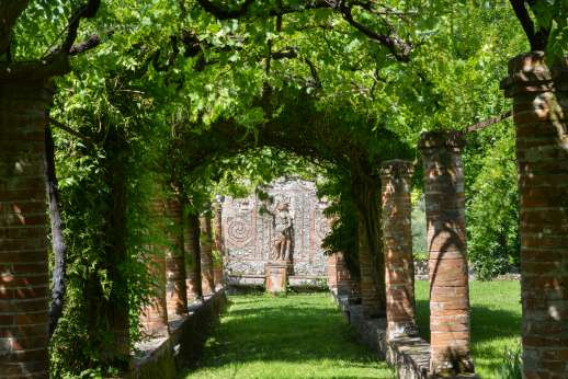 Villa le Cipressae - The grapevine arches in the garden