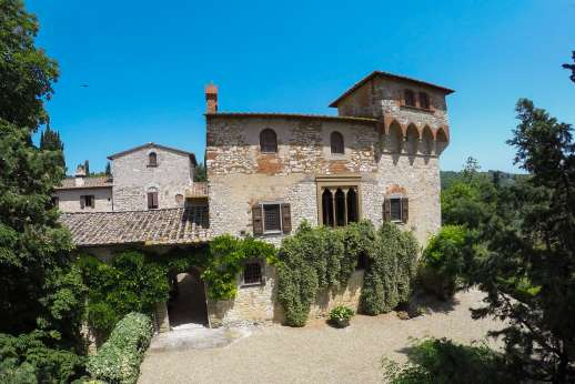 Fonte Petrini - The pool is set on a hedge-fenced area with well kept lawns and Olive trees