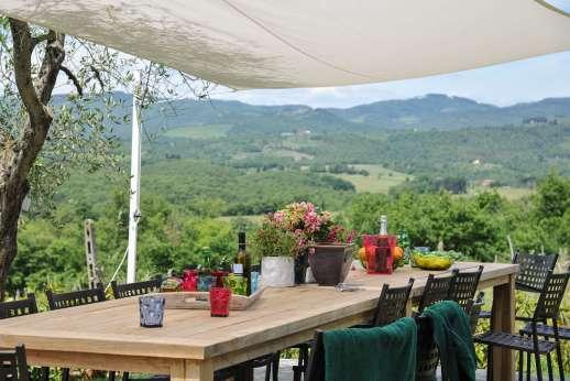 Borgo Gerlino - Overlooking the rolling hills of Chianti