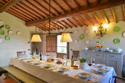 Borgo Gerlino - Dining room for 18 people leading outside
