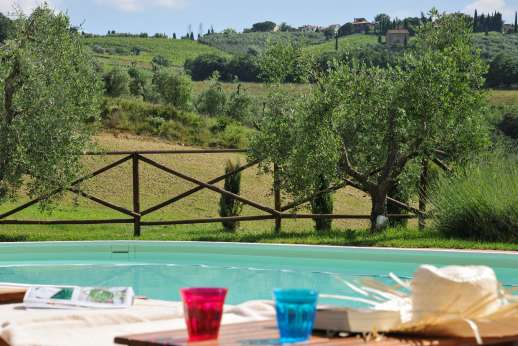 Villa Ostignano - The pool over looks the rolling countryside