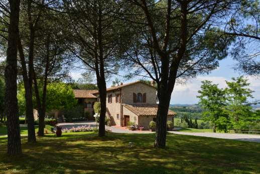 Villa Ostignano - Villa Ostignano sits on a soft hill side enjoying beautiful views