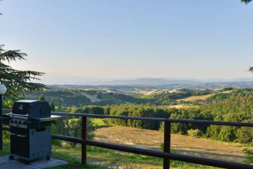 Weddings at Villa Ostignano - What a view to Barbecue to
