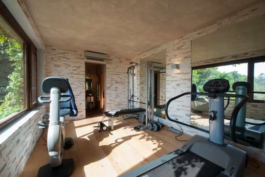 Ciclopica - The villa comes complete with a gym!