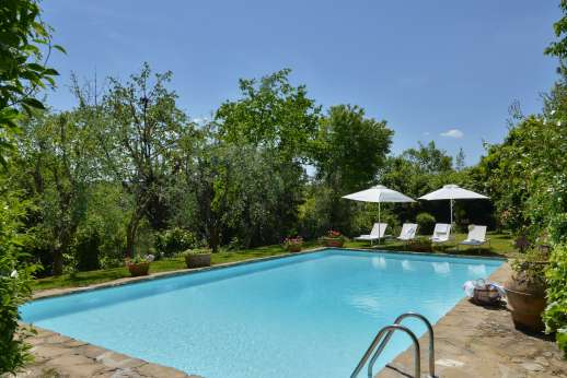Montesassi - The private swimming pool, 7 x 15 meters/22 x 48 feet.
