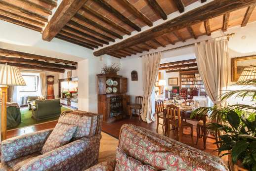 Montesassi - View of the sitting rooms.
