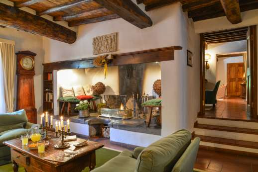Montesassi - View across the spacious first floor.