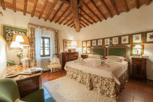 Montesassi - An air conditioned second floor double bedroom.