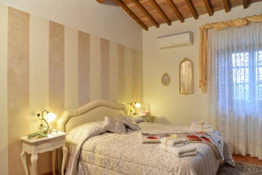San Leolino - First floor air conditioned double bedroom.