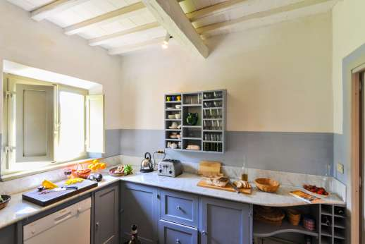 Casa al Bosco - The large Italian Kitchen with stone basin!