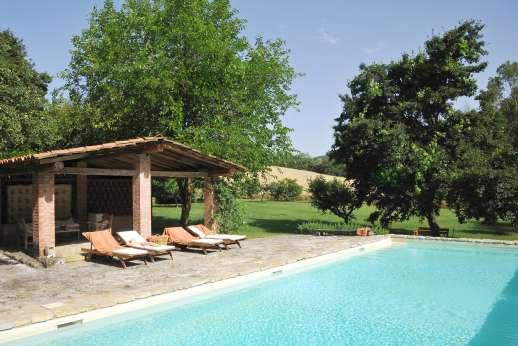La Pergola di Montegiove - The private swimming pool, 5 x 14m/14 x 45 feet.