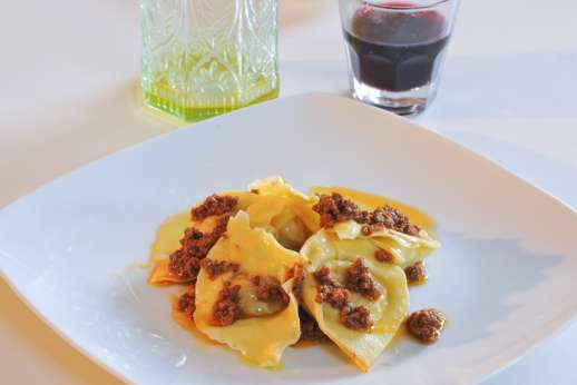 Weddings at Villa Atena - Tortellini with Ragu cooked by the villa chef