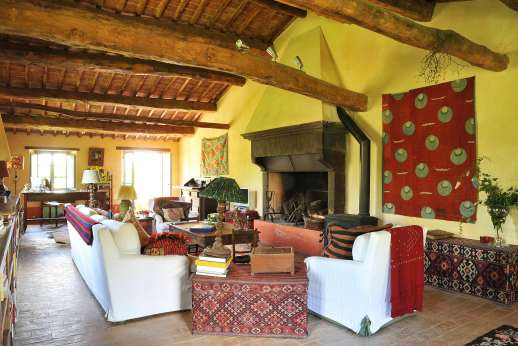 The Rose Barn - Another view of the large sitting room.