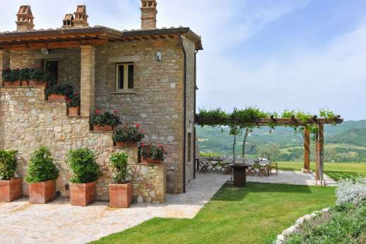 La Gemma Dorata - A beautiful luxury villa seen here with the access to the first floor