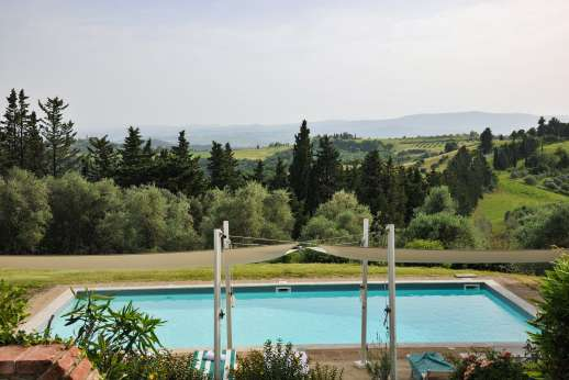 Tizzano - The salt water swimming pool, 6 x 12 meters/20 x 39 feet.
