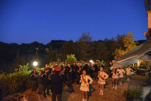 Podere Brogi - Local village festivities with Podere Brogi lit up in the distance
