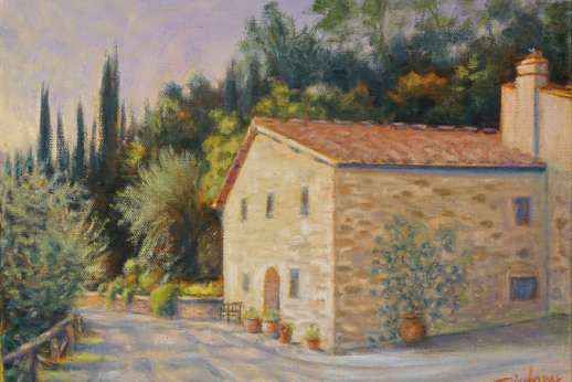 The Estate Of Petroio - Artist Jane Dierberger stayed at the estate and produced some amazing paintings (www.JaneDierberger.Art)