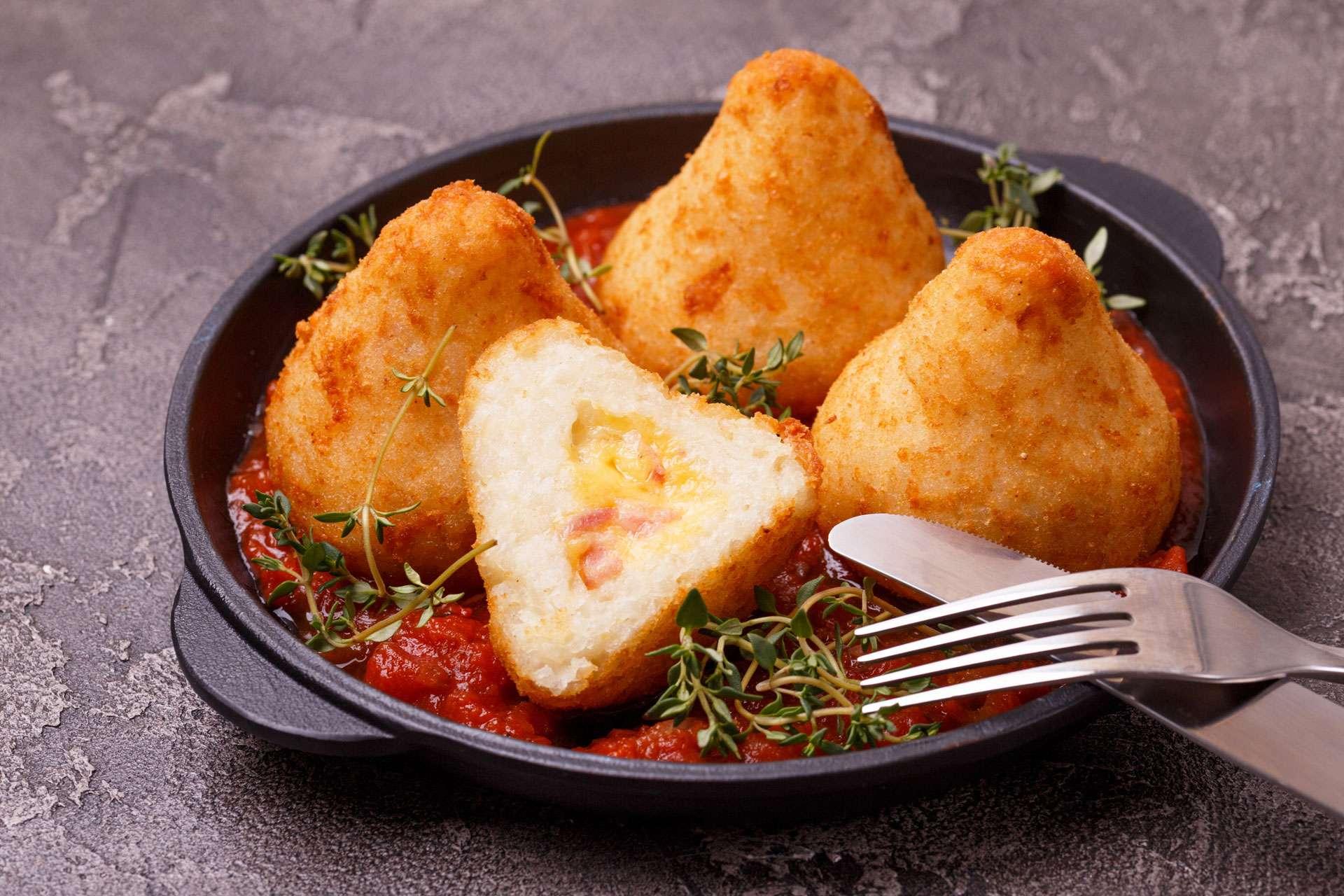 Arancini di Riso with Marinara Sauce